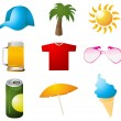Collection of summer design elements — Stock Photo