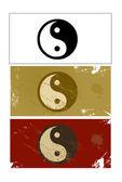 Yin and Yang sign vector — Stock Photo