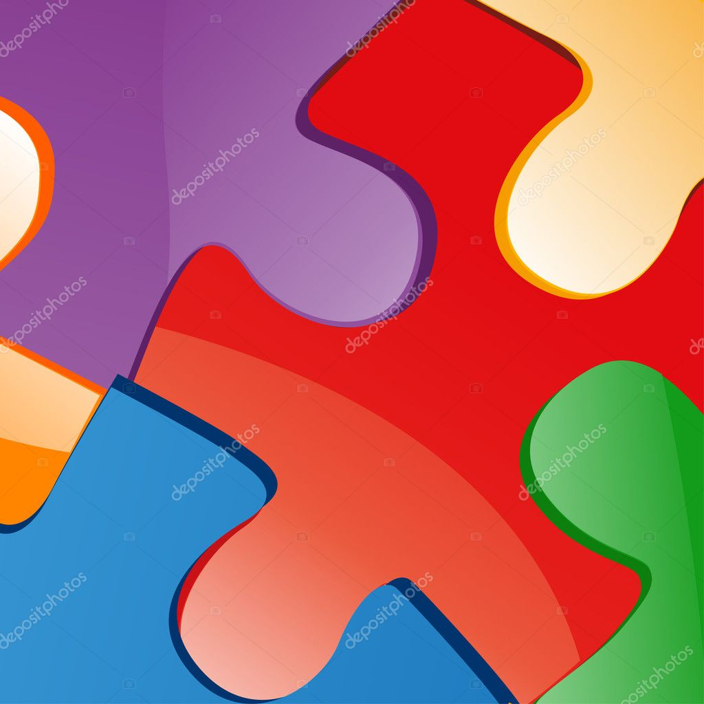 Vector illustration of puzzle pieces — Stock Photo #8427196