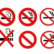 No Smoking Signs collection vector - Stock Photo
