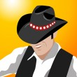 Cowboy vector illustration — Stock Photo #8910251
