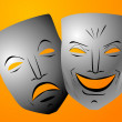 Comedy and tragedy masks - Stock Photo