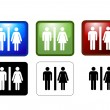 Vector illustration of Women&#039;s and Men&#039;s Toilets - Stock Photo