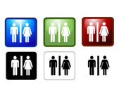 Vector illustration of Women's and Men's Toilets — Foto de Stock