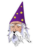 Wizard vector illustration — Stock Photo