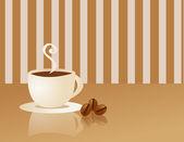 Coffee cup and smoke — Stock Photo