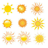 Sun vector illustration — Stock Photo