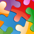 Vector illustration of puzzle pieces — Stock Photo