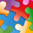 Royalty-Free Stock Photo: Vector illustration of puzzle pieces