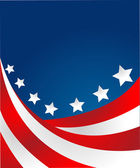 美国国旗样式向量中 — 图库照片