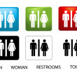 Women's and Men's Toilets - Stock Photo