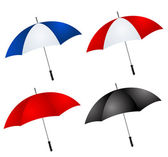 Different color umbrellas — Stock Photo