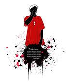 Rapper vector illustration — Stock Photo