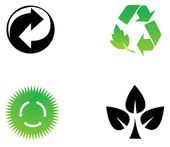 Environmental conservation symbols 2 — Stock Photo