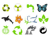 Environmental conservation symbols — Stock Photo