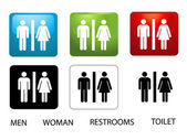 Women's and Men's Toilets — Stock Photo