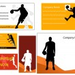 Basketball business card and poster — Stock Photo