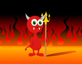 Little Devil Vector Illustration — Stock Photo