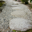Stepping stones in a japanese garden - Stock Photo