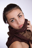 Young woman in scarf — Stock Photo