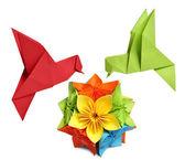 Buczenie ptak origami — Zdjęcie stockowe