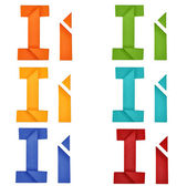 Origami alphabet — Stock Photo