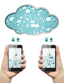 Cloud computing concept. — Stock Photo