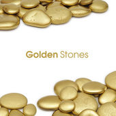 Golden stones frame — Stock Photo