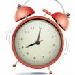 Red alarm clock — Stock Vector #8527914