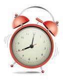 κόκκινο ρολόι συναγερμών — Διανυσματικό Αρχείο