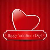 Red paper heart — Stock Vector