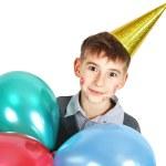 Boy in birthday hat — Stock Photo #8857578