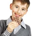 Boy Eating A chocolate — Stock Photo #8857579