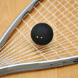 Stock Photo: Squash racket and ball