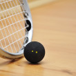 Squash racket and ball — Stock Photo #8988194