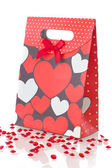 Red gift bag, isolated — Stock Photo