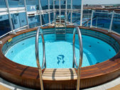 Pool on the ship — Stock Photo