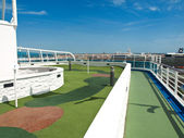 Golf court on the ship — Stock Photo