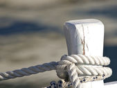 Ropes on the boat — Stock Photo