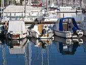 Boats in a port — Stock Photo