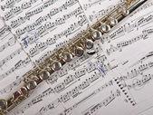 Flauto e note — Foto Stock