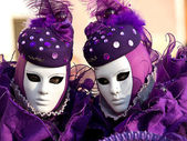 Purple masks — Stock Photo
