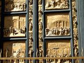 Złote drzwi — Zdjęcie stockowe