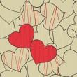 serce tło — Wektor stockowy