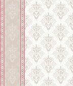 Seamless damask background with banner — ストックベクタ