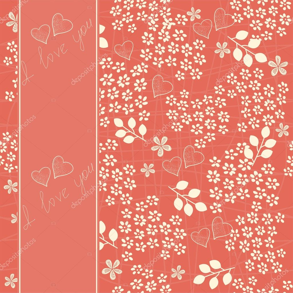 Heart background — Imagen vectorial #8864326