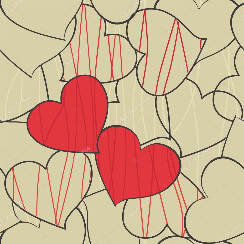 Heart background — Imagen vectorial #8864333