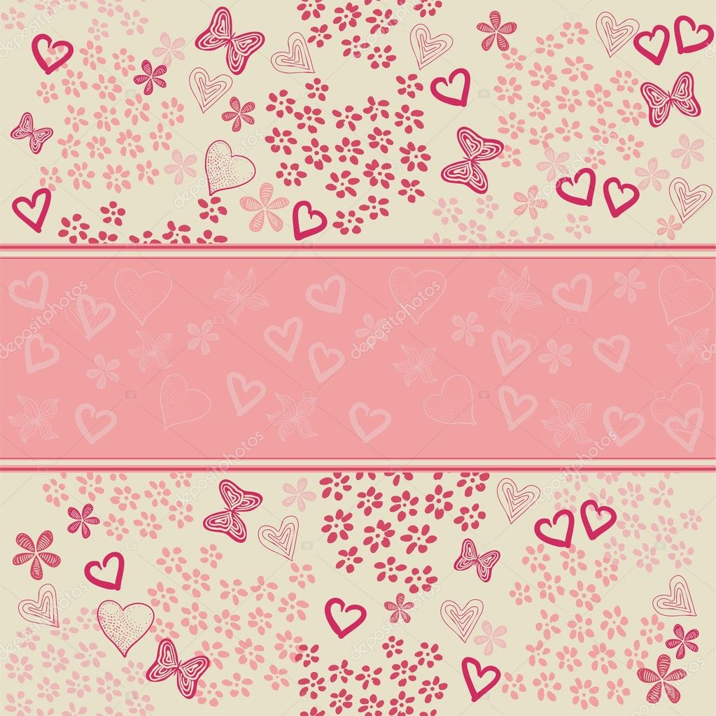 Heart background — Imagen vectorial #8866045