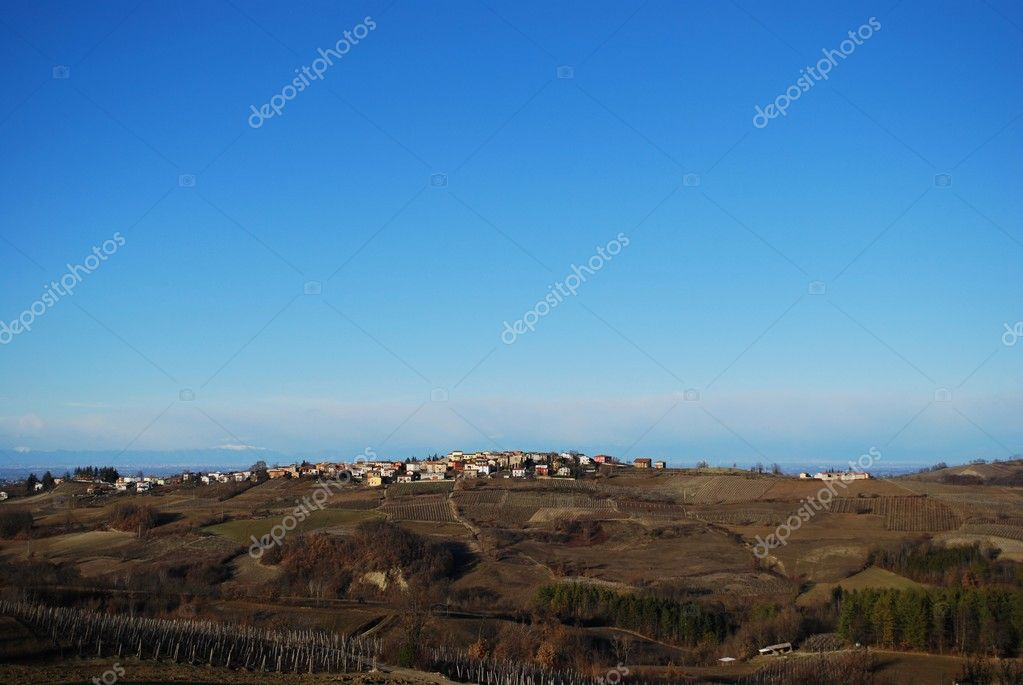 Landscape in the Oltrepo Pavese in winter, Pavia, Lombardy, Italy — Stock Photo #9180542