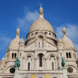 Sacre Coeur, Montmartre, Paris - Stock Photo
